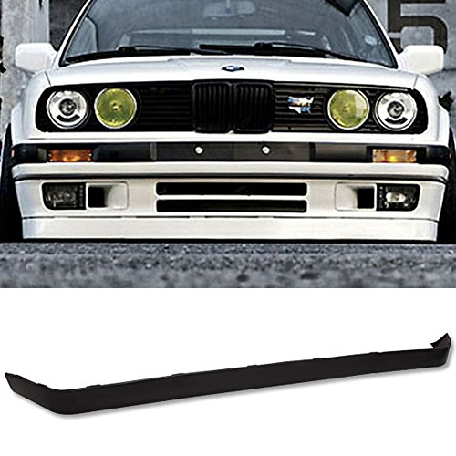 Front Bumper Lip Fits 1984-1992 BMW E30 | M-tech Style Unpainted PU Front Lip Finisher Under Chin Spoiler Add On by IKON MOTORSPORTS | 1985 1986 1987 1988 1989 1990 1991 ()
