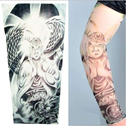EVRYLON Tatuaje Efecto Mangas Hombre Budista Guerrero dragón ...