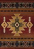 United Weavers of America Genesis Collection Arizona Heavyweight Heat Set Olefin Rug, 5-Feet3-Inch by 7-Feet 6-Inch, Crimson