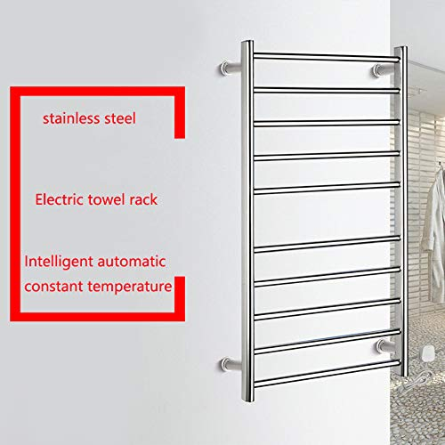 Dayangiii Straight Electric Heated Towel Rail,Electric Heated Towel Rail Radiator Warmer Chrome 950500125mm 5+5 Heating Rod