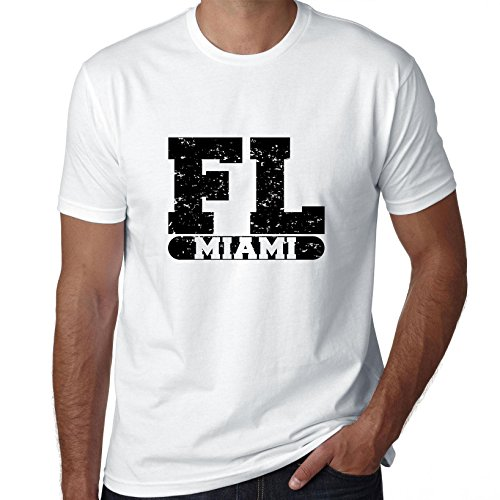 Hollywood Thread Miami, Florida FL Classic City State Sign Men's T-Shirt