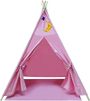 Yifi-Tek Canvas Teepee Kids Tent