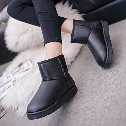 Botas Mujer,Ouneed ®Mujeres de alta calidad de nieve Boots de piel forrada invierno calientes zapatos de algodón Negro