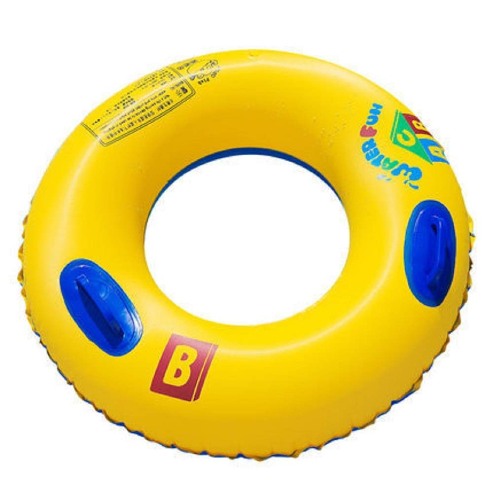 Adult Life Buoy, Swim Circle, Inflatable Summer Swim Ring, Water Toy for Beach Party. PVC Printing,80#90#100# (Size : 100#with Handle) by Cass (Image #2)