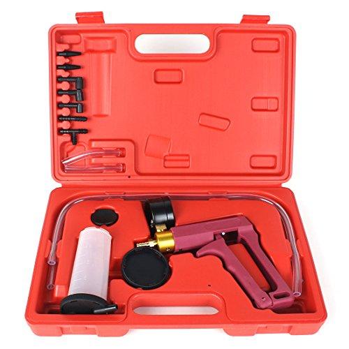 13PC Hand Held Vacuum Pressure Pump Tester Kit Brake Fluid Bleeder Car Motorbike Bleeding Set by Copap (Image #7)
