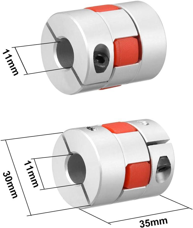 Wellenkupplung Flexible Koppler Gelenk f/ür Motor 11mm-11mm Bohrung L35xD30 DE de sourcing map 2stk
