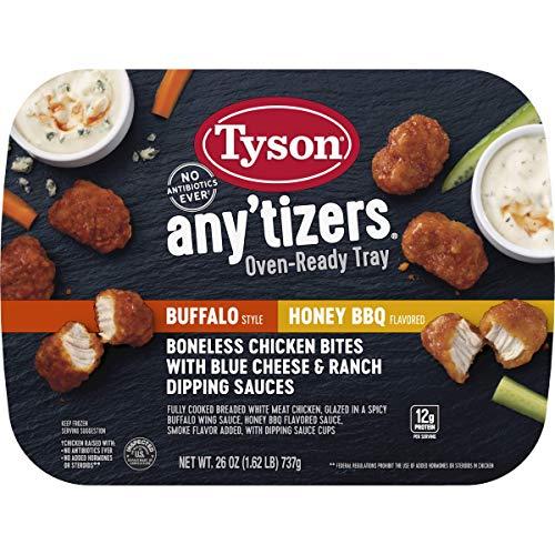 (Tyson Any'tizers Buffalo Style & Honey Bbq Boneless Chicken Bites In An Oven Ready Tray (Frozen), 26 oz )