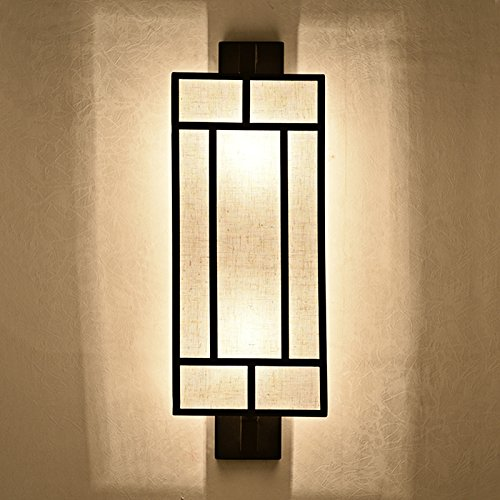 CLG-FLY New Chinese style wall lamp wrought iron bedroom bedroom living room decoration wall (Clg Matte)