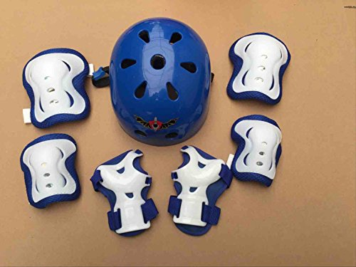 ASIBT-Kids-Skateboard-Helmet-Sets-Cycling-Roller-Skating-Helmet-Elbow-Knee-Pads-Wrist-Sport-Safety-Protective-Guard-Gear-Set-for-Children-of-age-3-8-years-oldBlue