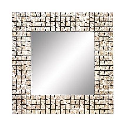 Amazon.com: Deco 79 Wood Capiz Mirror Join The Fashion of Capiz ...
