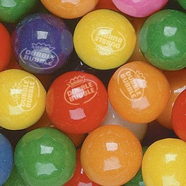 Dubble Bubble Tropical Fruit 24mm Gumballs 1 Inch, 3 Pounds Approximately 165 Gum ()