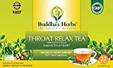 Cheap Buddha's Herbs Premium THROAT RELAX Herbal Tea – Caffeine Free (2 Pack (44 Tea Bags))