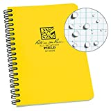 """Rite in the Rain All-Weather Side-Spiral Notebook, 4 5/8"""" x 7"""", Yellow Cover, Field Pattern(No. 353N)"""