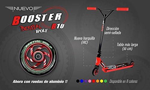 Scooter BESTIAL WOLF Booster B10 blanco y negro - RUEDAS DE ...