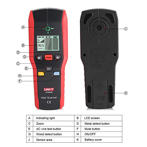 Professional Wall Scanner Digital Handheld Detector Finder Wood Metal AC Cable Electric Wire Detecting Tool by Fdit (Image #4)