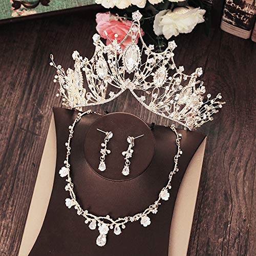 Wedding Crown for Bride Rhinestone Princess tiara for Women Prom Queen Crown Pageant-Bridal Wedding Crown