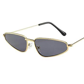 Btruely Herren_Gafas de Sol Polarizadas Hombres y Mujeres UV 400 Gafas de Sol de Marco pequeño Gafas de Sol Vintage Retro Cat Eye Sun Glasse (Gris): ...