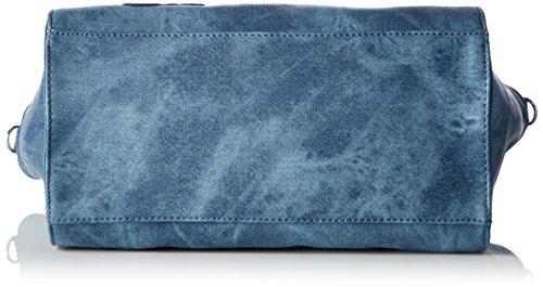 Tamaris Vera Handbag L - Bolso con correa de mano Mujer Blau (denim Comb)