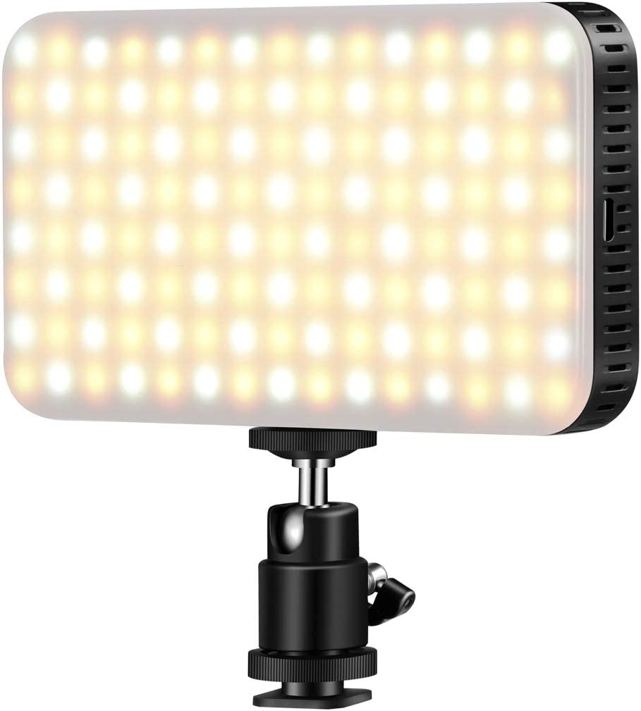 On-Camera LED Light, Mini Pocket Dimmable Ultra High Power Fill Light Panel for Camcorder/Canon, Nikon, Sony DSLR Camera, Using in Interview, Wedding, Facebook or YouTube