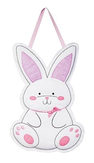 Evergreen Easter Bunny Outdoor Safe Felt Door Decor