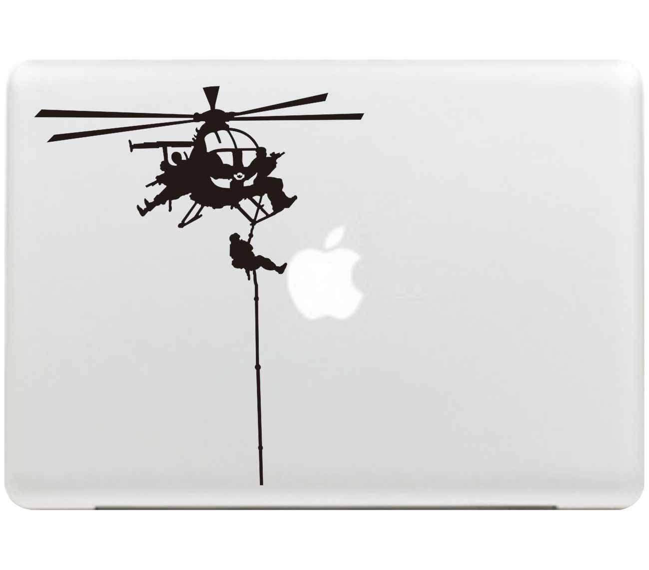 Sticker Adhesivos Macbook, Stillshine Desprendibles Creativo Colorido Art Calcomanía Pegatina para Apple MacBook Pro / Air 13 Pulgadas (Helicóptero del ...