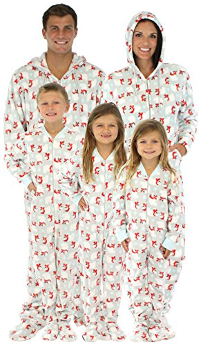 3aa64d3895d3 SleepytimePjs Family Matching Polar Bears Onesie PJs Footed Pajamas