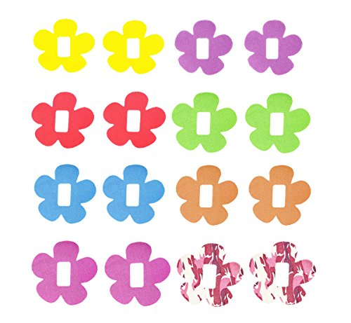 Dephia 16 Pack Adhesive Patches for Dexcom G4/G5 Decoration Waterproof Long Lasting Enough on Skin and Pre-cut Bouquet of Flowers (Multi-Colored)