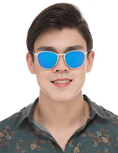 Baviron Men Retro Polarized Sunglasses Square Lightweight Metal Frame Glasses - Buy Lenses For You Can Just Glasses