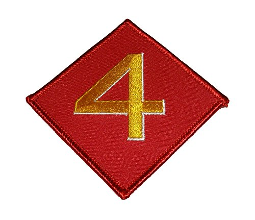 4TH MARINE DIVISION PATCH - Red & Gold - Veteran Owned Business (Patch 4th Marines)