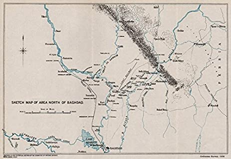 Amazoncom FIRST WORLD WAR Sketch Map Of Area North Of Baghdad - Baghdad map world