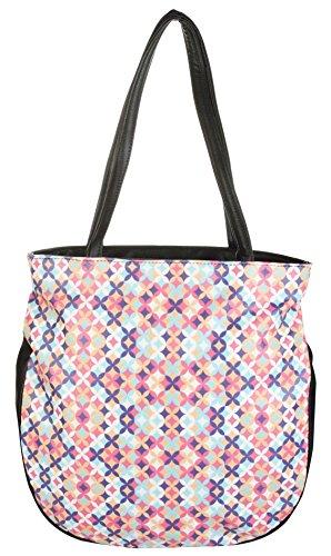 Cuddle Women's Shoulder Bag (Multi-Coloured, CUDPRTOT001Black)