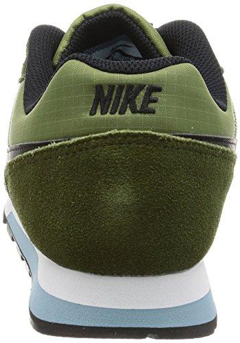 Nike Herren MD Runner 2 Low-Top Sneaker Mehrfarbig (Legion Green / Black / Palm Green / Mica Blue)