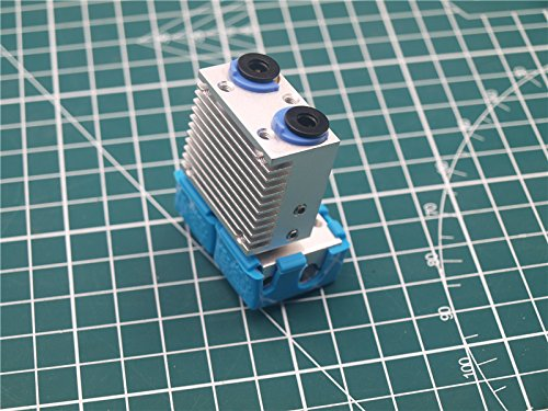 WillBest 1pc Dual Extrusion+ Chimera 2 in, 2 Out - Dual Extrusion All Metal V6 Hotend 1.75mm with Silicone Sock by WillBest