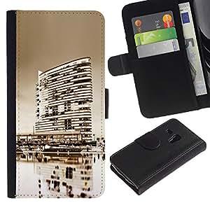 Ihec-Tech / Flip PU Cuero Cover Case para Samsung Galaxy S3 MINI NOT REGULAR! I8190 I8190N - Black & White City