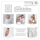 SwaddleDesigns Cotton Muslin Swaddle Blankets, Set