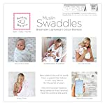 SwaddleDesigns-Cotton-Muslin-Swaddle-Blankets-Set-of-4-Pure-White-Parents-Picks-Award-Winner