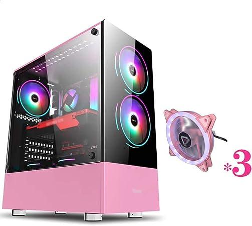 WSNBB Caso De Juego, Semitorre Caja De La Computadora De Juegos De PC ATX/M-ATX/