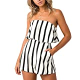 DANNI 2018 Women's Summer Casual Rompers Shorts Striped Printed Fashion Jumpsuit Shorts