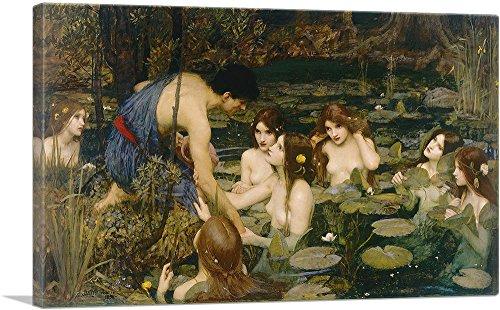 ARTCANVAS Hylas and The Nymphs 1896 Canvas Art Print by John William Waterhouse - 26