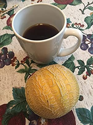 "#1340 Super Rare--"" Dwarf Cantaloupe "" bush variety-- 4 inches across--7 seeds"