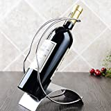 CdyBox European Stainless Steel Creative Wine Shelf Household Wine Bottle Rack (Double Arc Shape)