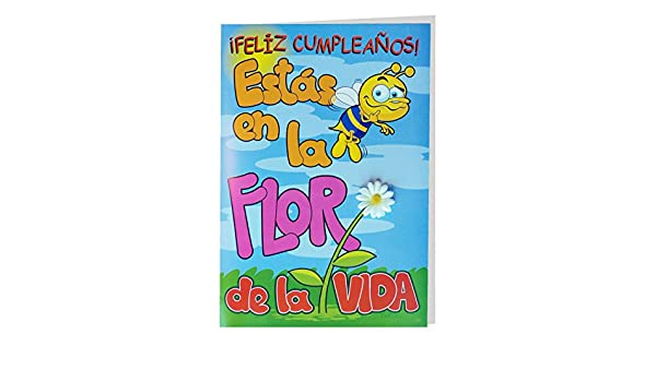 Tarjeta Felicitación CRAPOS Gigante, Cumpleaños Flor 50 x 34 ...