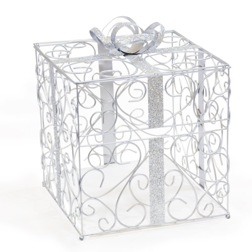 Cathy's Concepts Reception Gift Card Holder, Silver (Gift Create Card)