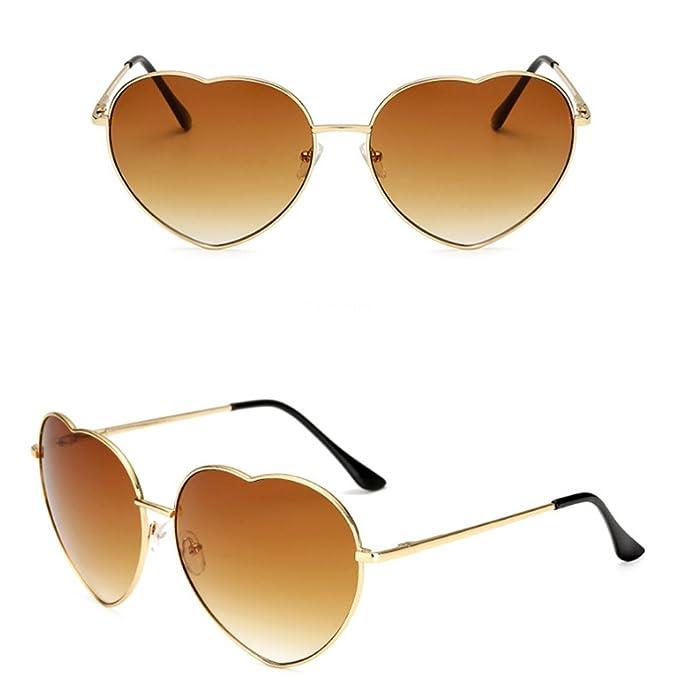 Amazon.com: GAMT corazón Fram anteojos de sol moda Aviator ...
