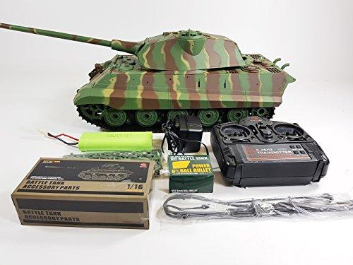 9fde7639840a Radio Control Model Toy Heng Long 1 16 Scale German King Tiger 2 Porsche  Turret Panzer RC Army Battle Tank 2.4ghz