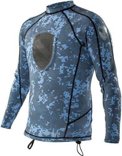 Body Glove Men's Long Arm Free Dive Wetsuit, XX-Large, Blue (Body Glove Dive Suit)