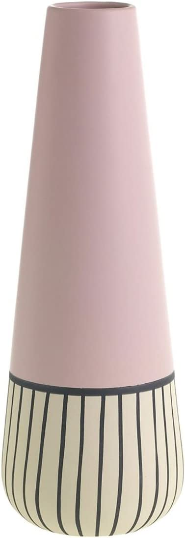 Afloral Tall Pixie Ceramic Floral Vase in Pink – 14.25 Tall x 5 Wide