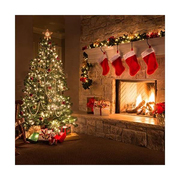 Kolpop Stringa Luci LED a Batteria [4 Pezzi], Catena Luminosa 5m 50 LED con Filo Rame Ghirlanda Luminosa Lucine LED Decorative per Camere da Letto Giardino Casa Feste Natale Matrimonio (Bianco Caldo) 2 spesavip