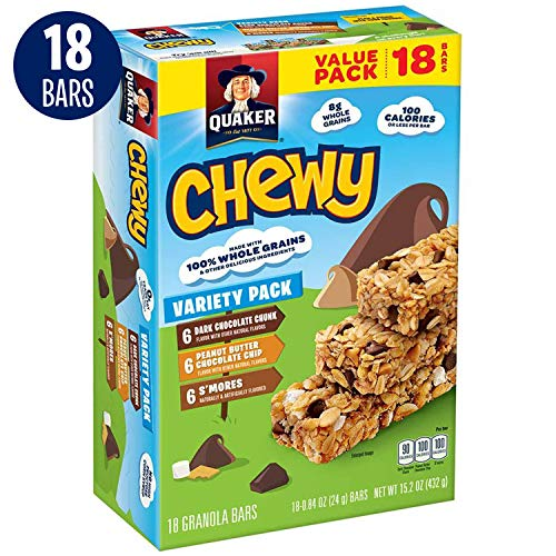 Quaker Chewy Granola Bars, Variety Pack, 18 Bars (Cake Pops With Cream Cheese Instead Of Frosting)