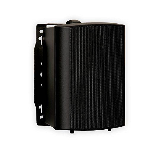 Theater Solutions 2 Pairs of New Indoor or Outdoor Weatherproof HD Mountable Black Speakers 2TS425ODB by Theater Solutions